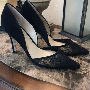 BCBG Lace & Suede heels